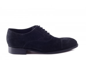 Barker Falsgrave Black Suede Oxford