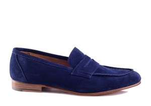 Carlos Santos 9176 Blue Loafer