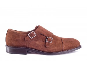 Partigiani 7770 Brown Suede Monk