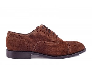 Partigiani 7735 Brown Suede Oxford