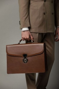 Garda BRIEFCASE DOUBLE BROWN,