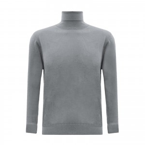 ANDREA FENZI Golf merino grey
