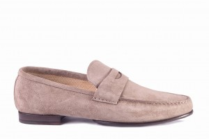 Borgioli Velour Fango Loafers
