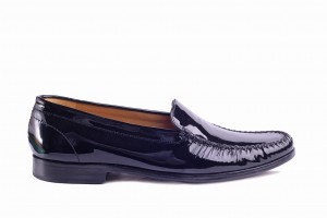 Barker Cerys black patent Loafers