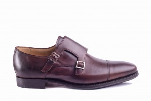 Barker Edison Walnut Calf Monk