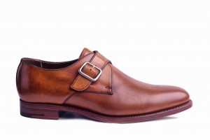 Barker Marble Arch Rosewood Calf Monk