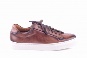 Partigiani 7556 Brown Hand Painted Sneakers
