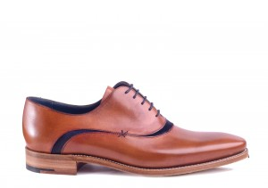 Barker Emerson Navy Suede Oxford