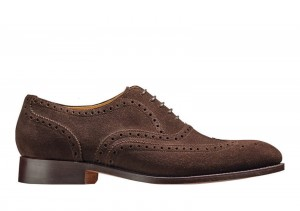 Barker Malton Burnt Oak Suede Oxford