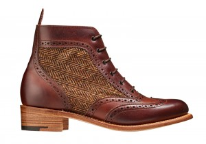 Barker Grace Brown Tweed Boots