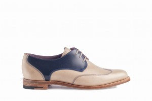Barker Charlie Navy/Beige* 38.5 Derby Outlet