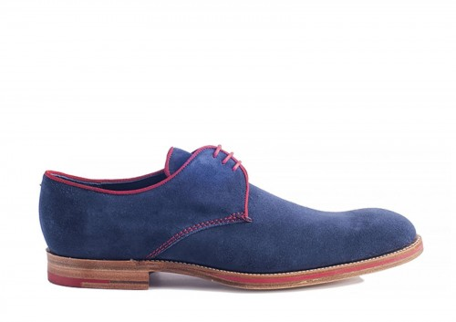 Barker, Rebus, Navy, derby, Goodyear Welted ,handmade, szyte buty